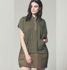 Poplin/Jersey Contrast Shift Dress