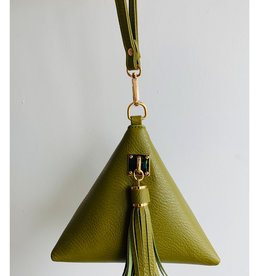 Olive Triangle Mini Purse
