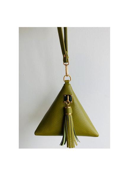 Olive Triangle Mini Purse