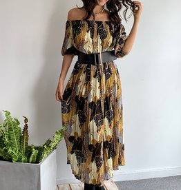 Long Sleeve Maxi Dress w Belt