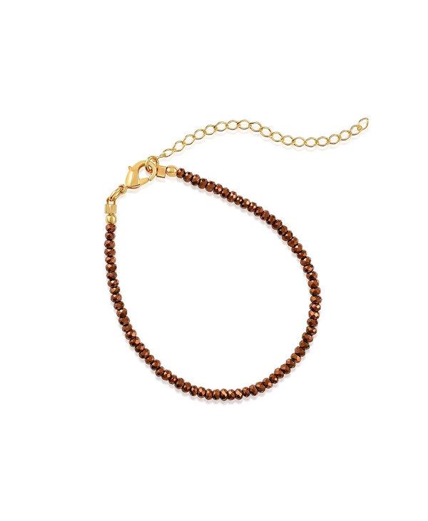 Metallic Bronze Crystals Bracelet