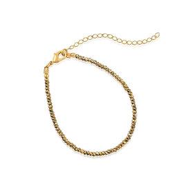 VIVIANA D'ONTANON Metallic Gold Crystals Bracelet