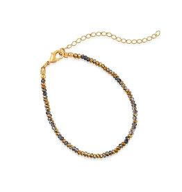 VIVIANA D'ONTANON Metallic Multi Gold Crystals Bracelet