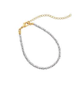 VIVIANA D'ONTANON Metallic Silver Crystals Bracelet