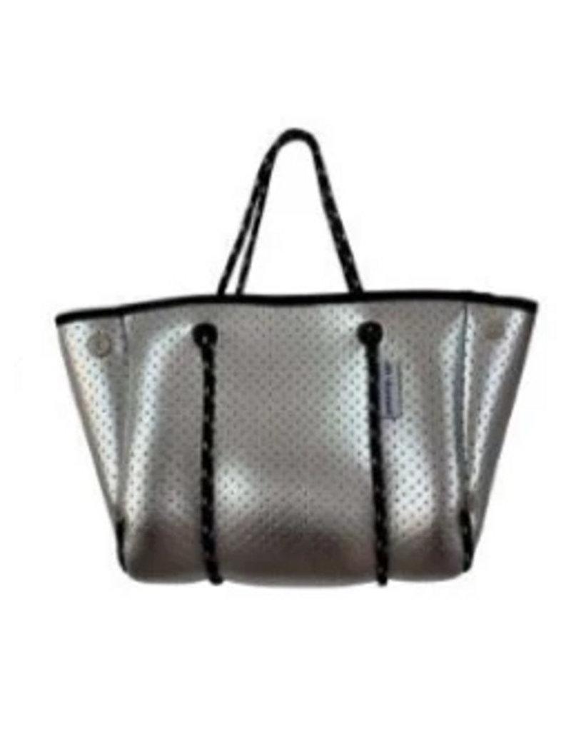Mini Silver Perforated Neoprene Bag