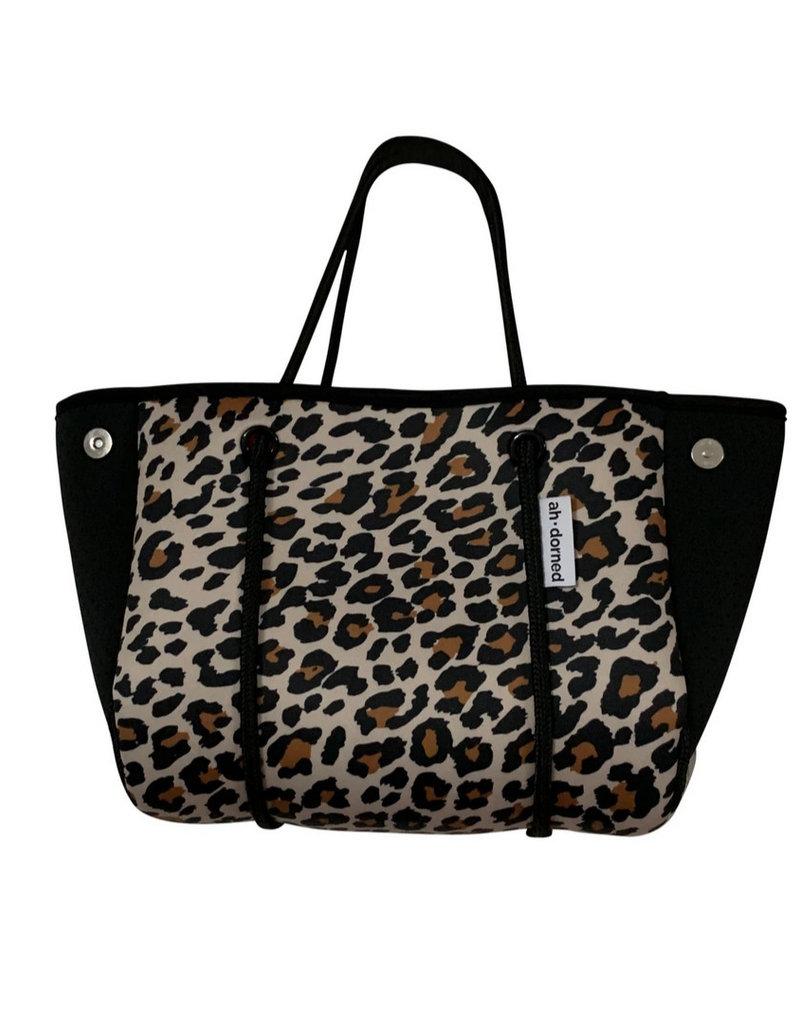 Mini Leopard Neoprene Bag w Black Sides