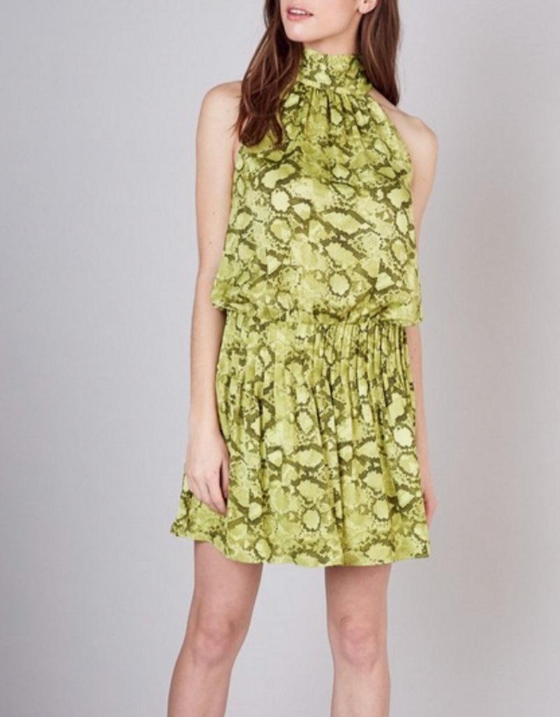 Mock Neck Tie Back Dress