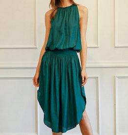 Smocking Waist Sleeveless Dress