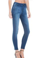 Mid Rise Welt Pocket Trouser Skinny