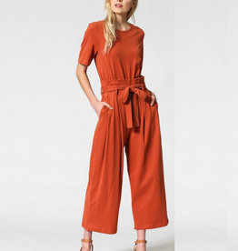 Cupro Jersey Jumpsuit HighWaisted