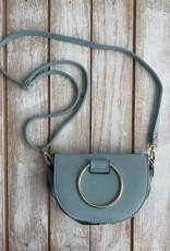 Lightblue Ruffles Crossbody Bags