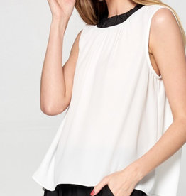 Classy Color Block Woven Top