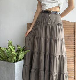 Olive Long Maxi Skirt