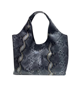 Grey Python 2 in 1 Hobo Bag