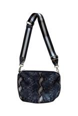 Grey Python 2 in 1 Hobo Bag
