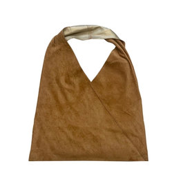 Camel Gold Reversible Shoulder Bag