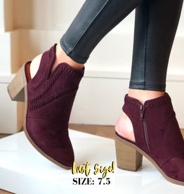 All Spice Burgandy Bootie