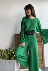 Long Sleeve Green Jumpsuit