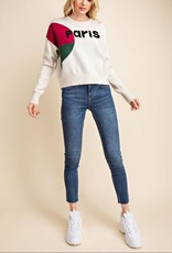 ColorBlock Paris Knit Sweater