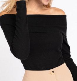 Long Sleeve Off Shoulder Bodysuit