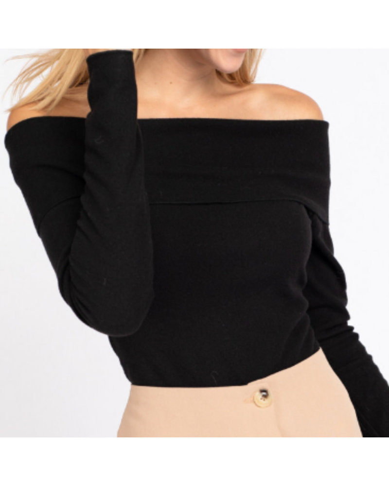 Long Sleeve Off Shoulder Bodysuit