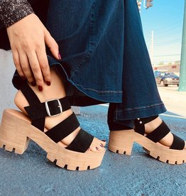 Sporty Block Flatform Heel