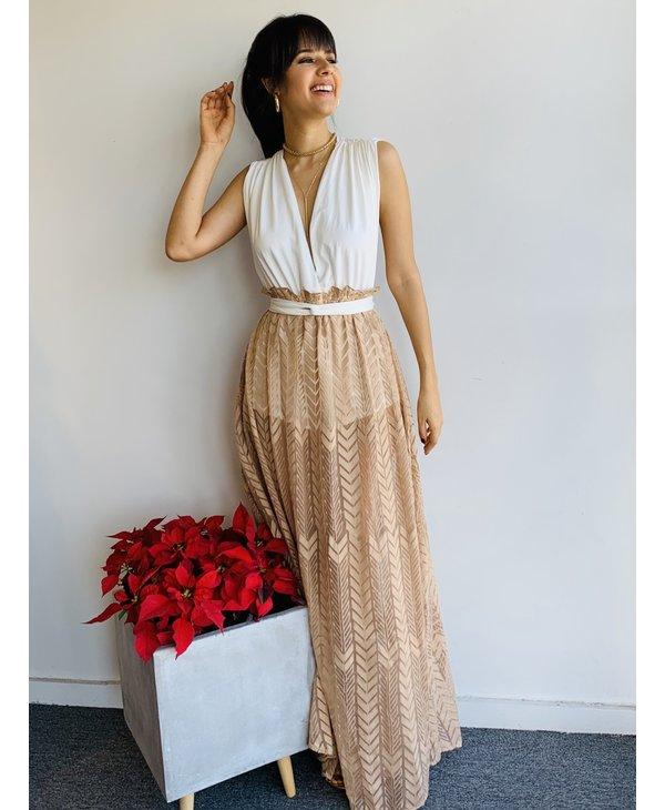 Romper Skirt Long Dress