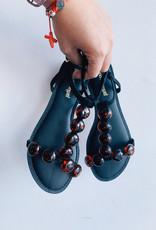 Resort Sandal Beaded Leather Nub