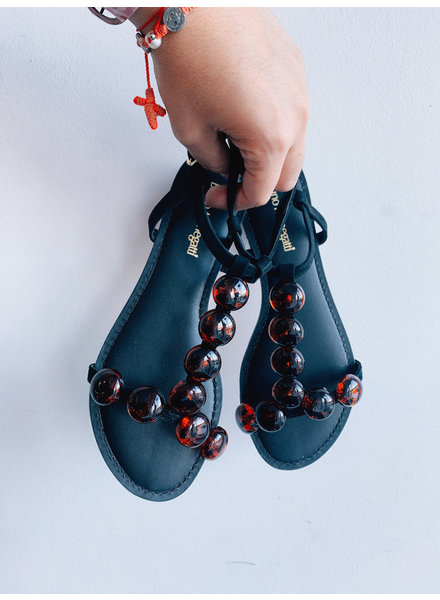 Resort Sandal Beaded Leather Nub