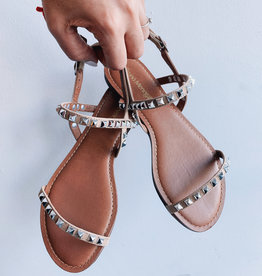 Resort Sandal Studded Leather Nub