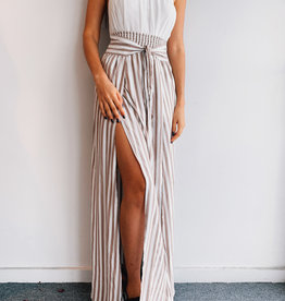 Skirt Side Taupe Stripe