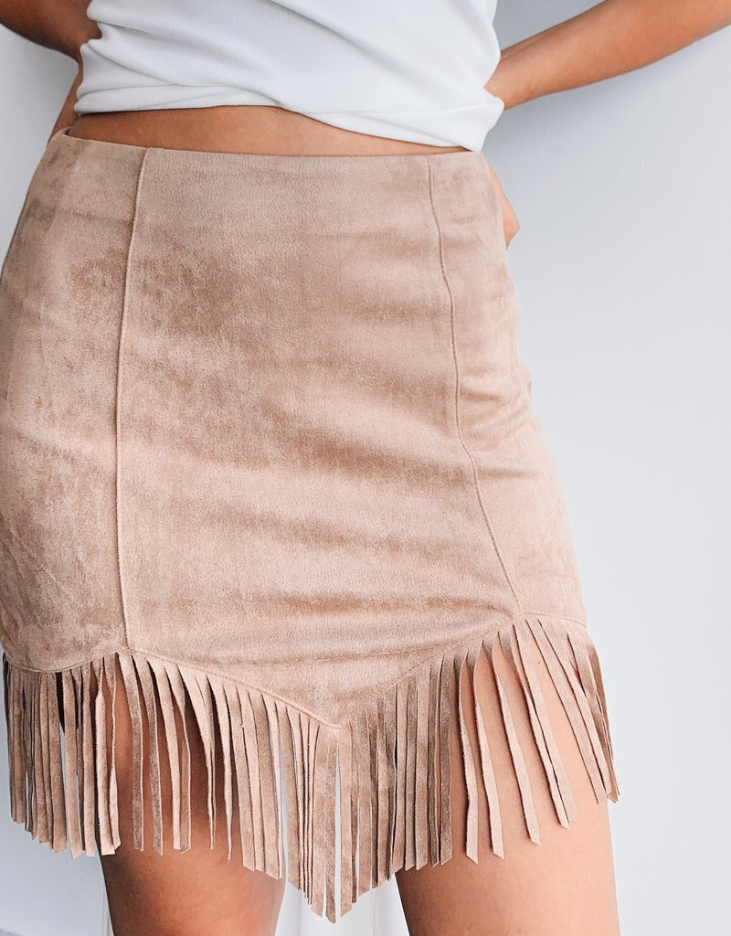 Trim Detail Short Skirt
