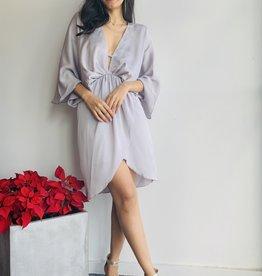 Mini Plunge Kimono Style Dress
