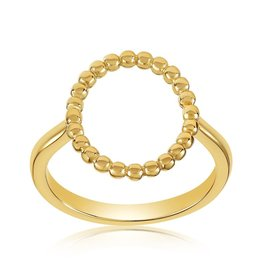 VIVIANA D'ONTANON Oval Halo Beaded Ring
