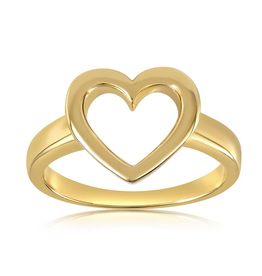 VIVIANA D'ONTANON Hollow Heart Ring