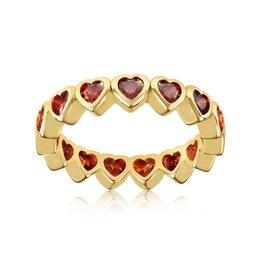 VIVIANA D'ONTANON Hearts Multistone Ring