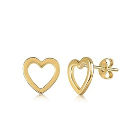 VIVIANA D'ONTANON Hollow Heart Stud Earring