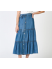 Lyocell Tiered Skirt w Self Tie