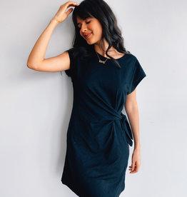 Side Knot Cotton dress