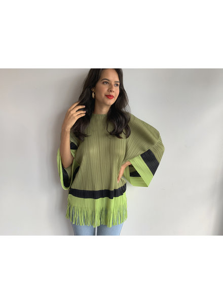 Green Fringes Statement Top