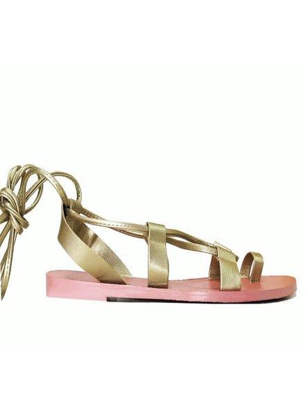 Darla Gold/Pink Flat Sandal