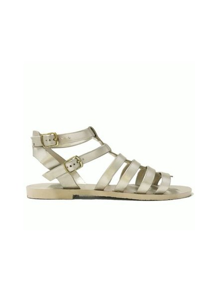 Ingrid Metallic Gold Flat Sandal