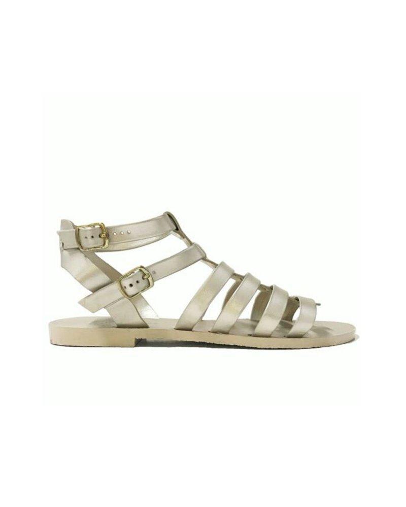 Ingrid Metallic Gold Flat Sandal
