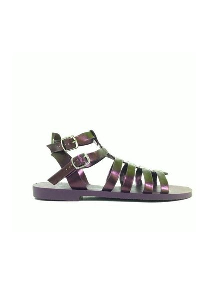 Ingrid Metallic Purple Flat Sandal
