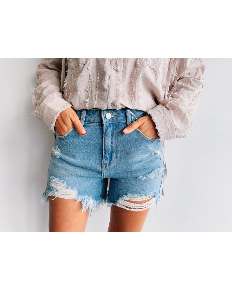 HighRise Destroy Shorts