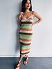 MultiColor Crochet Midi Dress