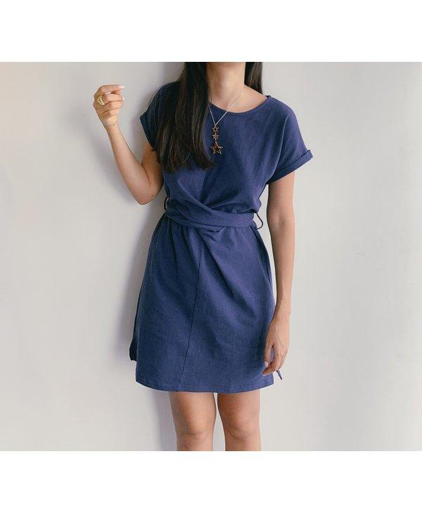 Waist Tie Short Dress