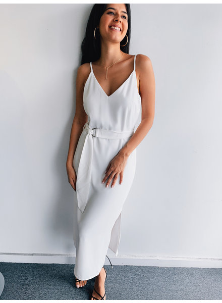 Belted Midi Slip Dress