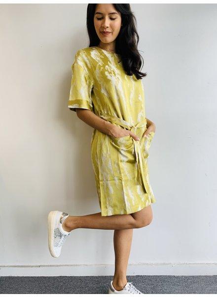 Woven Dress Golden Green