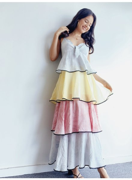 Color Block TieDye Dress